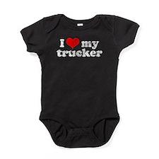 ILOVEMYTRUCKERTRANS.png Baby Bodysuit