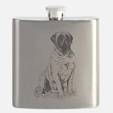 Mastiff Sitting Flask