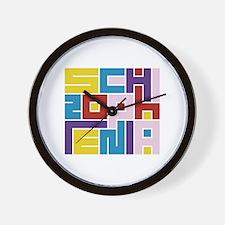 Schizophrenia Maze Wall Clock
