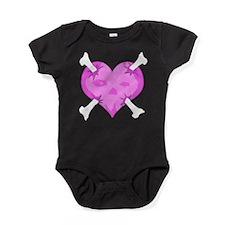skullheartwhttshirtblkgnd.png Baby Bodysuit