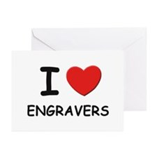 I love engravers Greeting Cards (Pk of 10)