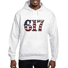 Boston Strong 617 Flag Hoodie