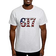 Boston Strong 617 Flag T-Shirt
