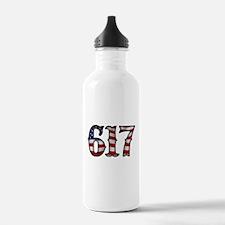 Boston Strong 617 Flag Water Bottle
