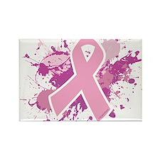 Breast Cancer Splatter Rectangle Magnet