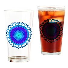 Blue Lotus Mandala Drinking Glass
