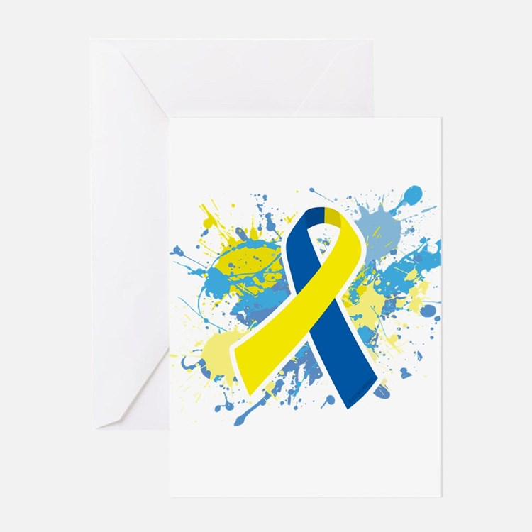 Down Syndrome Splatter Greeting Card