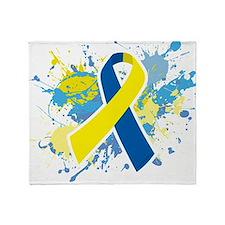Down Syndrome Splatter Throw Blanket
