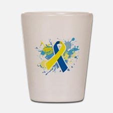 Down Syndrome Splatter Shot Glass
