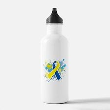 Down Syndrome Splatter Water Bottle