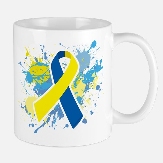 Down Syndrome Splatter Mug