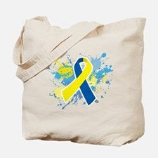 Down Syndrome Splatter Tote Bag