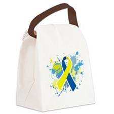 Down Syndrome Splatter Canvas Lunch Bag