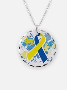 Down Syndrome Splatter Necklace