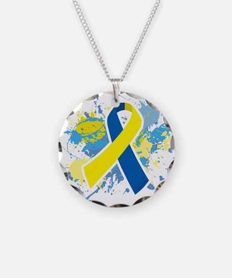 Down Syndrome Splatter Necklace