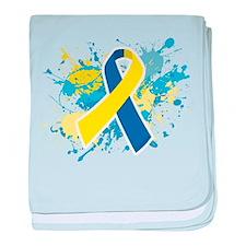 Down Syndrome Splatter baby blanket