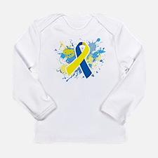 Down Syndrome Splatter Long Sleeve T-Shirt