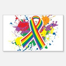 LGBTQ Paint Splatter Decal
