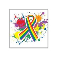LGBTQ Paint Splatter Sticker