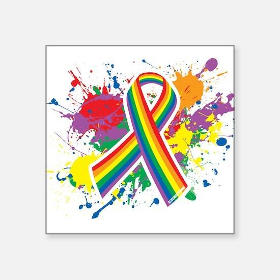 LGBTQ Paint Splatter Sticker