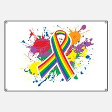 LGBTQ Paint Splatter Banner