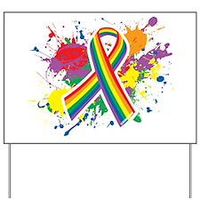 LGBTQ Paint Splatter Yard Sign
