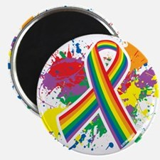 LGBTQ Paint Splatter Magnet