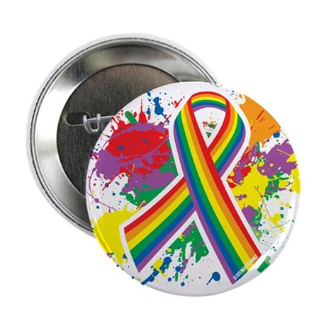 "LGBTQ Paint Splatter 2.25"" Button"