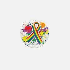 LGBTQ Paint Splatter Mini Button