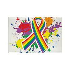 LGBTQ Paint Splatter Rectangle Magnet (100 pack)