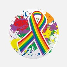 "LGBTQ Paint Splatter 3.5"" Button (100 pack)"