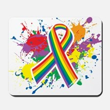 LGBTQ Paint Splatter Mousepad
