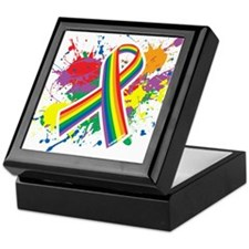 LGBTQ Paint Splatter Keepsake Box