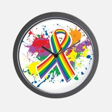 LGBTQ Paint Splatter Wall Clock
