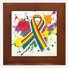 LGBTQ Paint Splatter Framed Tile