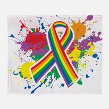 LGBTQ Paint Splatter Throw Blanket