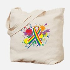 LGBTQ Paint Splatter Tote Bag