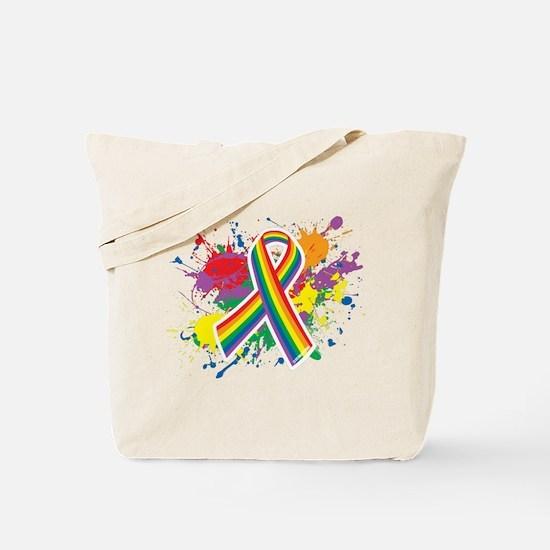 LGBTQ Paint Splatter Tote Bag
