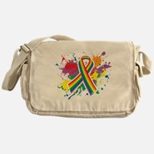 LGBTQ Paint Splatter Messenger Bag