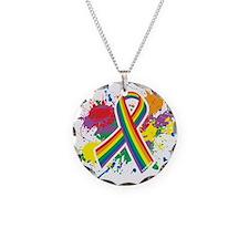 LGBTQ Paint Splatter Necklace
