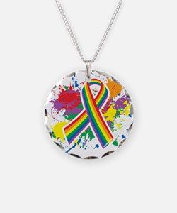 LGBTQ Paint Splatter Necklace