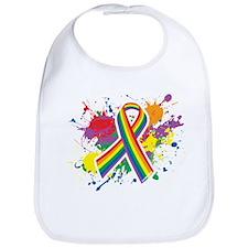 LGBTQ Paint Splatter Bib