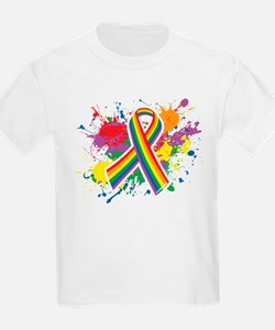 LGBTQ Paint Splatter T-Shirt