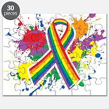 LGBTQ Paint Splatter Puzzle
