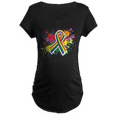 LGBTQ Paint Splatter Maternity T-Shirt