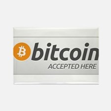 BitcoinAcceptedHere Rectangle Magnet