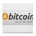 BitcoinAcceptedHere Tile Coaster