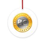 BitcoinEuro Ornament (Round)