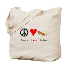 Peace Love Lefse Tote Bag