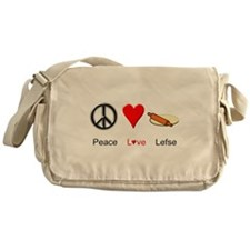 Peace Love Lefse Messenger Bag